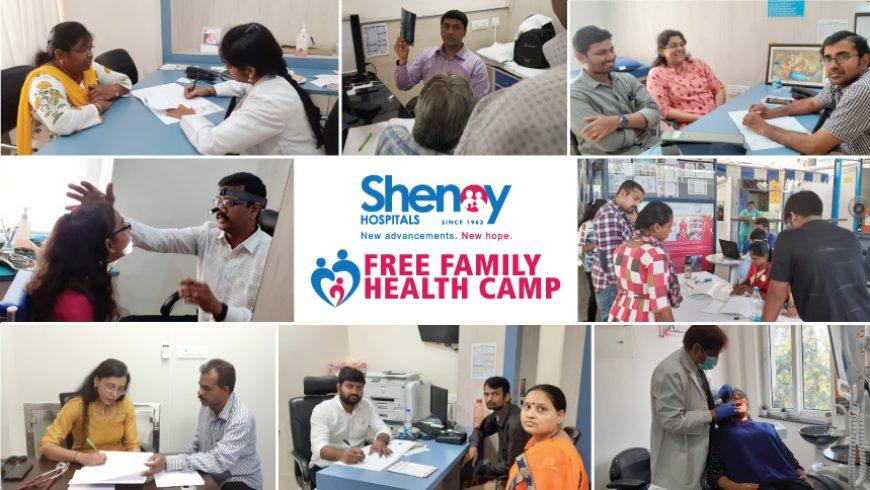 'FREE FAMILY HEALTH CAMP' at Shenoy Hospitals